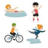 Kindersportillustration stock abbildung