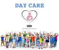 Kindertagesstätte-Kindererziehungs-Kindergarten-Konzept lizenzfreies stockbild