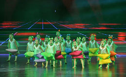 Kindertanz - Kissen-Tanz Lizenzfreies Stockfoto