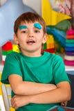 Kinderteigspiel in der Schule Knetmasse für Kinder Stockbild