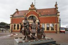 Kindertransport,格但斯克的纪念碑 免版税库存照片