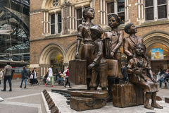 The Kindertransport statue in London, England, UK. The Kinder transport statue in London, England, UK Kinder transport was a rescue mission for Jewish children Stock Photography