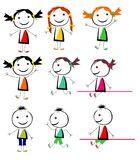 Kindervektor Stockfotografie