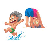 Kindervektorillustration Lizenzfreie Stockfotografie