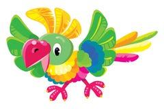 Kindervektorillustration des lustigen Papageien Stockbild
