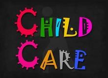 Kinderverzorgingwoord Stock Afbeeldingen