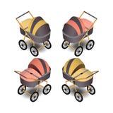 Kinderwagen in isometrischem Vektor Abbildung