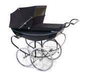 Kinderwagen/kinderwagen op wit stock afbeeldingen