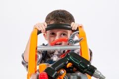 Kinderwagen met mechanisch toestel royalty-vrije stock fotografie