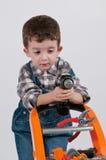 Kinderwagen met mechanisch toestel royalty-vrije stock foto