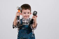 Kinderwagen met mechanisch toestel stock fotografie