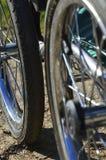 Kinderwagenräder Lizenzfreies Stockfoto