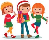 Kinderweihnachtsfest Stockbilder
