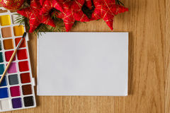 Kinderweihnachtsgrußkonzept Stockfotografie