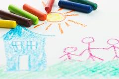 Kinderzeichnung Lizenzfreie Stockfotos