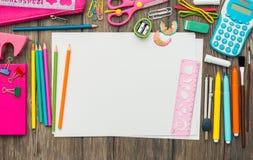 Kinderzeichnung und -kreativität Stockfotografie