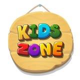 Kinderzonenzeichen oder -fahne Kinderspielplatz-Vektorillustration Stockfoto