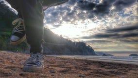 Kindheit aufgedeckt mit dem Sonnenuntergang lizenzfreie stockfotografie