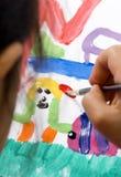 Kindheit, die 011 malt Stockbilder