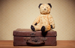 Kindheit-Nostalgie-Teddybär Lizenzfreies Stockfoto