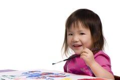 Kindheit-Serie (Anstrich mit einem Lächeln) Lizenzfreie Stockfotos