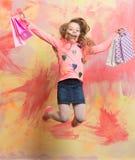 Kindheit und Glück Lizenzfreies Stockfoto