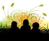Kindheit und happenies Lizenzfreies Stockfoto
