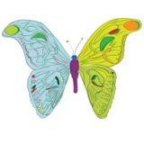 Kindische Illustration des Attacus-Atlas-Schmetterlinges stock abbildung