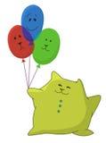 Kindkissen mit baloons Stockbild