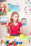 Kindlackabbildung im Vortraining. Stockfoto