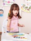 Kindlackabbildung im Vortraining. Lizenzfreies Stockbild