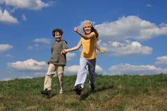 Kindlaufen Lizenzfreies Stockfoto