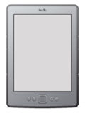 Kindle 4. An illustration of the newest 4th generation Kindle from Amazon. Shadow placed on separate layer and clipping mask used Royalty Free Stock Images