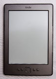 Kindle e-reader. The new Amazon Kindle e-reader which, unlike the earlier model, has no keyboard and is thus lighter Stock Image