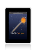 Kindle Fire HD from Amazon vector illustration
