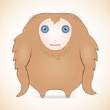 Kindly brown monster. Cartoon funny kindly brown monster royalty free illustration