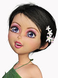 Kindly fairy cartoon portrait Royalty Free Stock Image