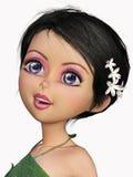 Kindly fairy cartoon portrait Royalty Free Stock Image