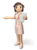 Kindly nurses will guide. Computer generated image Stock Photography