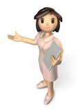 Kindly nurses will guide. Computer generated image Stock Image