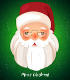 Kindly Santa Claus.Vector template with copy space Stock Photo