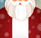 Kindly Santa Claus.Vector template with copy space Royalty Free Stock Image
