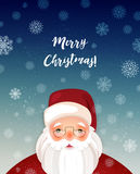 Kindly Santa Claus.Vector template with copy space Stock Images
