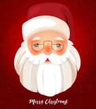 Kindly Santa Claus.Vector template with copy space Stock Image