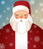 Kindly Santa Claus.Vector template with copy space Royalty Free Stock Photos