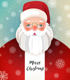 Kindly Santa Claus.Vector template with copy space Royalty Free Stock Images
