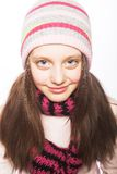 Kindmeisje met de winterkleren Royalty-vrije Stock Afbeeldingen