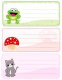 Kindnamenskarten Lizenzfreies Stockfoto