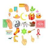Kindness icons set, cartoon style. Kindness icons set. Cartoon set of 25 kindness vector icons for web isolated on white background Royalty Free Stock Photo