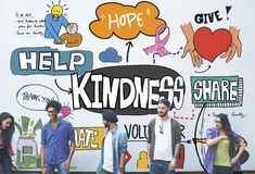 Kindness Kindly Optimistic Positive Giving Concept Stock Image